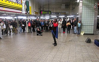 Alice Tan Ridley - Ridley performing in the Times Square Subway station
