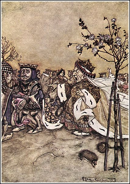 File:Alice in Wonderland by Arthur Rackham - 10 - Off with her head!.jpg