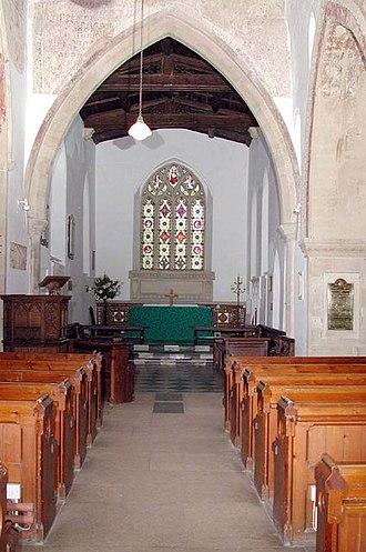 All Saints Church, Lathbury - Interior view