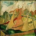 Alma del Banco - Rote und gelbe Segel (Segelschiffe in Cuxhafen).jpg