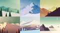 Alto's Adventure concept art - 01 Landscapes.png