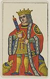 Aluette card deck - Grimaud - 1858-1890 - King of Swords.jpg