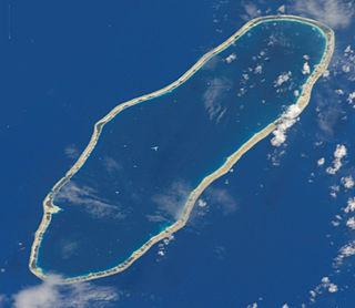 Amanu island in French Polynesia