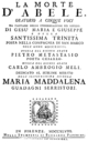 Ambrogio Meli - La morte d'Abele - titlepage of the libretto - Florence 1748.png