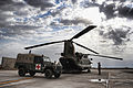 An Ambulance Waits to Receive a Casualty from a Chinook at Camp Bastion, Afghanistan MOD 45152970.jpg