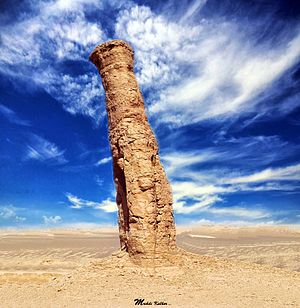 Yardang - A rare yardang in Lut Desert, Iran.