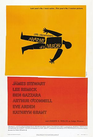 Anatomy of a Murder - Theatrical release poster by Saul Bass