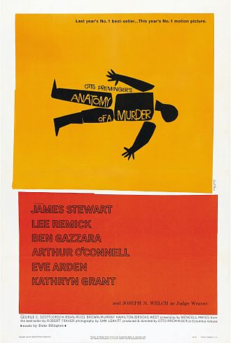 Saul Bass - Anatomy of a Murder poster designed by Bass