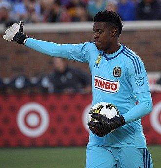 Andre Blake - Blake playing for the Philadelphia Union in 2017