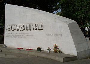 Animals in War Memorial - Image: Animals in War east