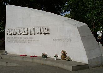 Animals in War Memorial - Image: Animals in War east