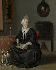 Portrait of Anna de Hooghe (1645-1717), the painter's fourth wife