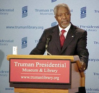 Harry S. Truman Presidential Library and Museum - Kofi Annan speaking at the Library