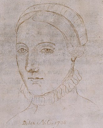 Life of William Shakespeare - A drawing from 1708, which was claimed to be a portrait of Anne Hathaway