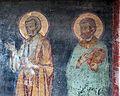 Anonimo, crocifisso tra maria e giovanni dolenti, due angeli, ss. pietro e forse marco, 1325-50 ca. 02.jpg