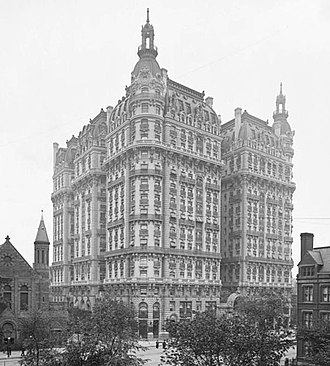 The Ansonia - The Ansonia Hotel on Broadway at the intersection with Amsterdam Avenue (image from 1905)