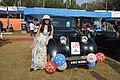 Antara Banerjee with 1946 Renault Juvaquatre - 1003 cc - 4 cyl - WBC 8980 - Kolkata 2018-01-28 0834.JPG
