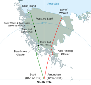 Expedition Made Successful Return From >> Comparison Of The Amundsen And Scott Expeditions Wikipedia