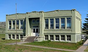 National Register of Historic Places listings in Wasco County, Oregon - Image: Antelope School overview Antelope Oregon
