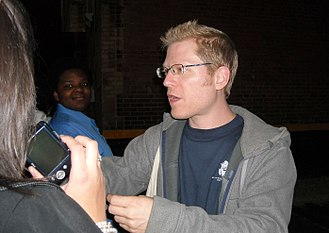 Anthony Rapp - Rapp greeting fans following a 2009 performance of Rent