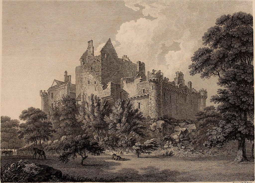 Le château de Craigmillar près d'Edimbourg sur un dessin de T. Hearne.