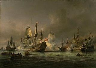En episode af søslaget i Køge Bugt 1677