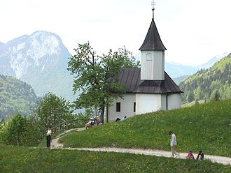 Kaisertal - St Anthony's Chapel, View of the vally and Pendling