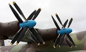 Kuznetsov NK-12 - A pair of Kuznetsov NK-12MAs installed on an Antonov An-22