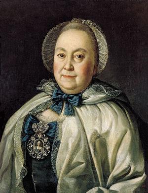 Maria Rumyantseva - Portrait by Aleksey Antropov, 1764
