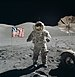 Apollo 17 astronaut Eugene Cernan on the surface of the moon