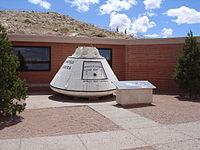 "Apollo Test Capsule ""Boilerplate-29"" at Barringer Crater"