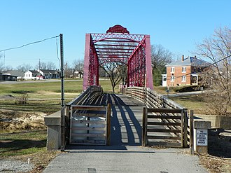 Apple Creek (Mississippi River) - Image: Apple Creek foot bridge