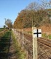 Approaching the level crossing on Belaugh Green Lane - geograph.org.uk - 1059230.jpg