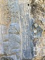 April 2019. Detail. Akkadian script of the Rock-relief of Darband-i Belula at Horen Shekhan, Sulaymaniyah, Iraqi Kurdistan.jpg