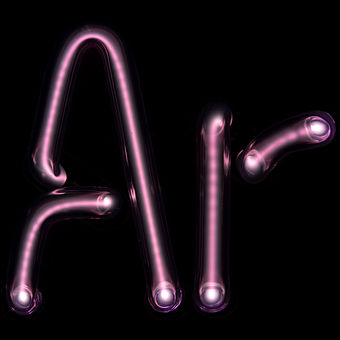 "Argon gas-discharge lamp forming the symbol for argon ""Ar"" ArTube.jpg"