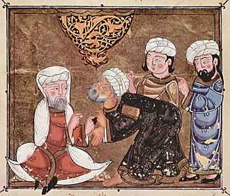 Qadi - Abû Zayd pleads before the Qadi of Ma'arra (1334).
