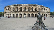 Nîmes arena is popularly used for concerts and also bull related activities