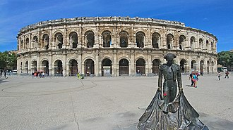 Amphitheatre used today for concerts and bullfights Arena de Nimes.jpg