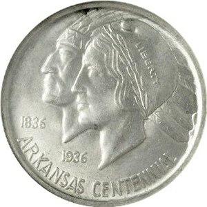 Arkansas Centennial half dollar - Obverse