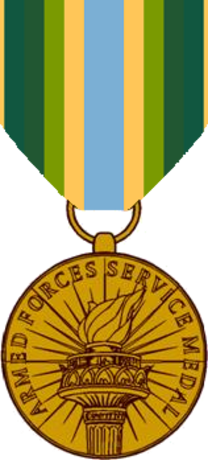 Armed Forces Service Medal - Image: Armed Forces Service Medal