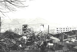 Spitak - Spitak devastated after the 1988 earthquake