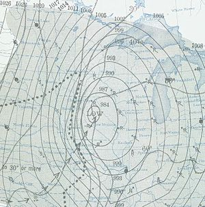 1940 Armistice Day Blizzard - Image: Armistice Day Blizzard surface map