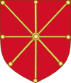 Arms of Sancho VI de Navarra (Golden escarbuncle variant).png