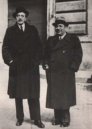 Trilussa - Arnoldo Mondadori and Trilussa in the 1930s