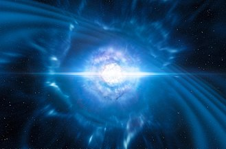 Gravitational wave - Image: Artist's impression of merging neutron stars