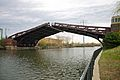 Ashland Avenue Bridge in Chicago starting to open.jpg