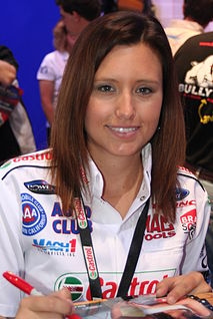 Ashley Force Hood American racing driver