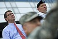 Ashton B. Carter and Gen. James D. Thurman tour the demilitarized zone separating North and South Korea, July 2012 (1).jpg