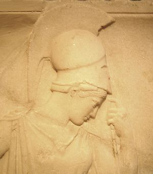 Mourning Athena - The Mourning Athena (detail)