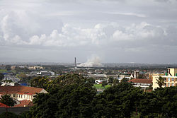 Athlone, Cape Town, just after the demolition of the Athlone Cooling Towers.jpg